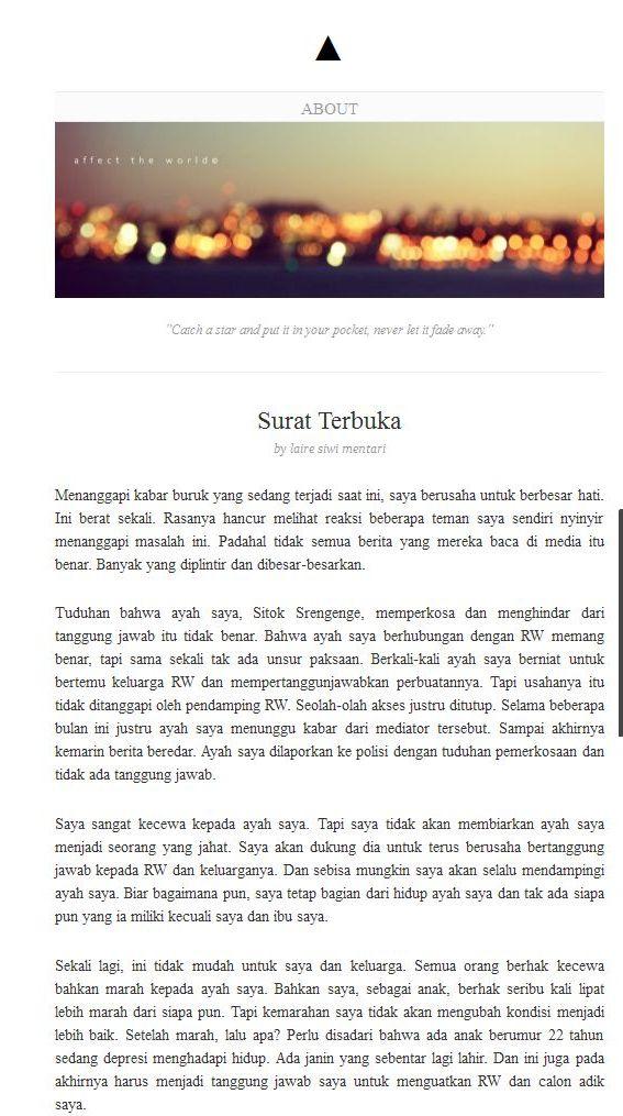 2013 11 30_Buku_Surat Terbuka WEB, Laire Siwi Mentari (Sitok Srengenge)_Sastra, Mesum