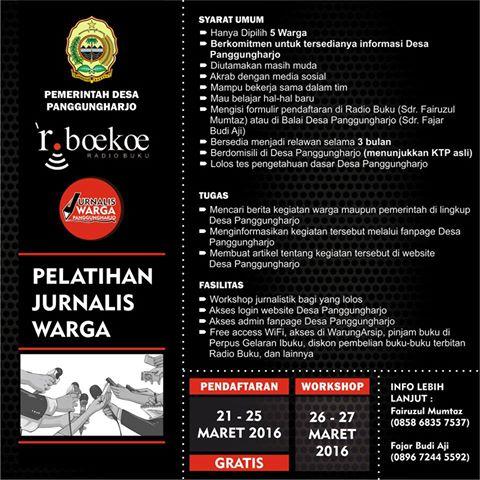 2016 03 26_RADIO BUKU_Pelatihan Jurnalistik Panggungharjo