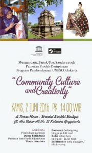 Community Culture and Creativity