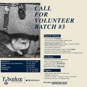 Volunteer Radio Buku #3