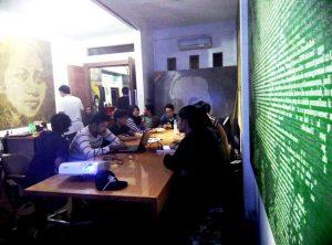 Aktivis HMI MPO Komisariat Hukum UII Yogyakarta Berkunjung ke Radio Buku (29/11/2016)